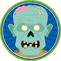 10x Halloween Onderzetters Zombie