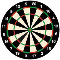 25x Bierviltjes Onderzetters Dartbord/darten Feestartikelen Versiering Thema