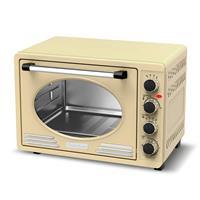 Turbotronic Ev45 Retro Rvs Elektrische Oven 45 Liter - Cream