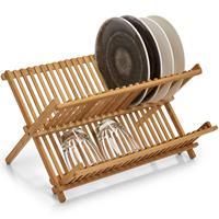 Luxe Bamboe Afdruiprek 42 X 35 Cm - Zeller - Keukenbenodigdheden - Afwassen/drogen - Afdruiprekken Van Hout