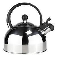 Rvs Fluitketel / Waterkoker 2,5 Liter Zilver/zwart - Waterkoker - Fluitketels - Water Koken