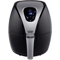 Cuisine Deluxe Heteluchtfriteuse - Airfryer - 2,4 Liter - 1300-1500 Watt - 80% Minder Vet - Timer - Digitaal Scherm