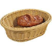 Merkloos Gevlochten Fruitmand/broodmand Ovaal 20 X 25 X 8,5 Cm - Tafel Dekken - Fruitmanden/fruitschalen - Broodmanden