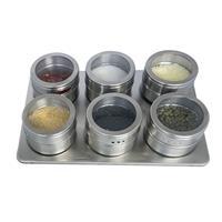 Decopatent Kruidenrek met 6 Magnetische Kruidenpotjes - Kruidenpot met Magneet - Keuken Kruidenrekje voor specerijen - Spice Rack