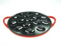 Fissler Relance Poffertjesplaat gietijzer rood geëmailleerd 16 stuks