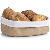 Merkloos 1x Jute Brood Serveer Mandjes 26 X 18 Cm - Broodmand
