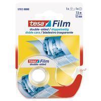 TESA Dubbelzijdige plakband  film 12mmx7.5m met dispenser