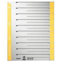 Leitz Scheidingsbladen  A4 karton 230gr 6-gaats geel
