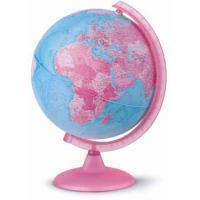 Rombouts Globe Pink 25cm Nederlandstalig Kunststof Voet Met Verlichting