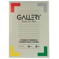 Gallery Steinbach tekenblok, gekorreld, ft 21 x 29,7 cm (A4), 250 g/m², blok van 20 vel