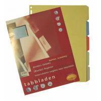 Multo Tabbladen  economy A4 23-gaats 5-delig assorti