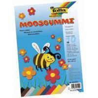 Folia mosgummi pak van 10 blad in 10 geassorteerde kleuren