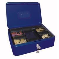 Wedo geldkoffer, ft 30 x 24 x 9 cm, blauw