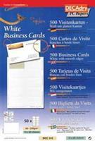 Decadry visitekaarten TopLine 500 kaartjes (10 kaartjes ft 85 x 54 mm per A4), rechte hoeken