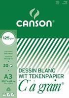 """Canson tekenblok """"C"""" à grain 125 g/m², ft 29,7 x 42 cm (A3)"""