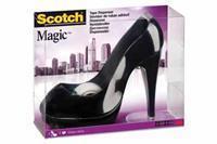 Plakbandhouder  schoen zwart + 1rol 19mmx8.9m