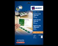 Avery Quick & Clean visitekaartje 85 x 54 mm. 200 g/m². C32011. Laser (pak 250 stuks)