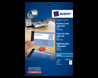 Avery Visitekaart  C32015-25 85x54mm 260gr mat 200stuks