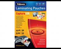fellowes Lamineerhoes  65x95mm 2x125micron 100stuks