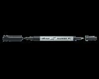 Pilot Cd marker  twin F en EF 0.7mm en 0.4mm zwart
