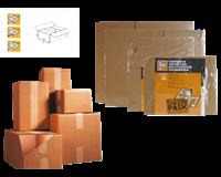 Cleverpack Verzenddoos  enkelgolf 200x200x110mm bruin 30stuks