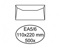 Quantore Envelop  bank EA5/6 110x220mm wit 500 stuks