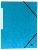 5 Star elastomap 3 kleppen donkerblauw, pak van 10 stuks