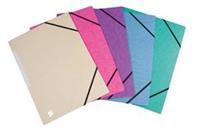5 Star elastomap 3 kleppen, geassorteerde pastelkleuren, pak van 10