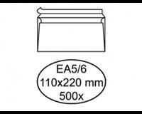 Quantore Envelop  bank EA5/6 110x220mm zelfklevend wit 500st.