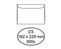 Quantore Envelop  bank C5 162x229mm wit 500stuks