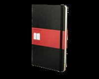 moleskine Adresboek  large 130x210mm lijn zwart