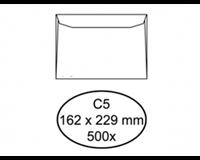 hermes Envelop  bank C5 162x229mm wit 500stuks
