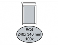 Quantore Envelop  bordrug EC4 240x340mm zelfkl. wit 100stuks