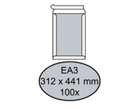 Quantore Envelop  bordrug EA3 312x441mm zelfkl. wit 100stuks