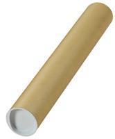 Verzendkoker, ft 43 x 6 cm, bruin