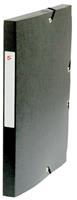 5 Star elastobox, rug van 2,5 cm, zwart