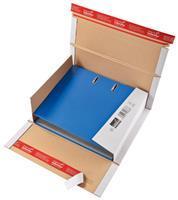 Colompac verzenddoos voor ordners CP055, ft 32 x 29 x 3,5-8 cm, wit
