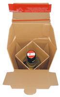 Colompac verzenddoos voor flessen CP181, ft 7,4 x 7,4 x 30,5 cm, bruin