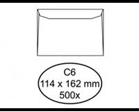 Quantore Envelop  bank C6 114x162mm wit 500stuks