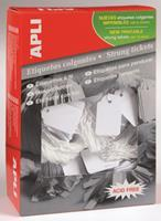 APLI Label  karton nr389 18x29mm wit 1000stuks