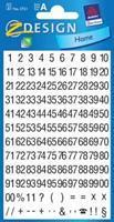 Avery Etiketten cijfers en letters 1-100, 2 blad, zwart op wit