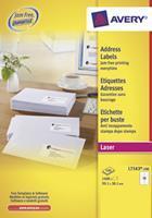 Avery Etiket  L7163-100 99.1x38.1mm wit 1400stuks