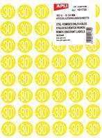 Agipa Kortinglabel -30%, geel, pak van 192 stuks, verwijderbaar