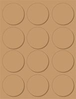 Avery Etiket  L7106-20 60mm bruin 240stuks