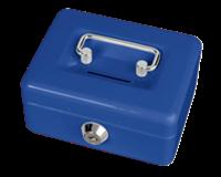 maul Geldkist  met gleuf 125x95x60mm blauw