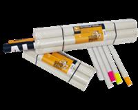 Cleverpack Verzendkoker  A2 +doppen 450x50x1.5 wit 20stuks