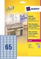Avery Etiket  L7690-25 38.1x21.2mm zilver 1625stuks