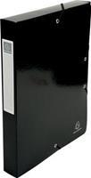 Exacompta Iderama elastobox uit gelamineerd karton, rug van 4 cm, met rugetiket, zwart