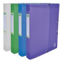 Elba 2nd Life elastobox, voor ft A4, rug van 4 cm, uit PP, geassorteerde kleuren