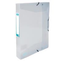 Elba elastobox Hawaï, voor ft A4, rug van 4 cm, uit PP, transparant